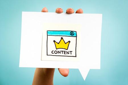 Photo pour Content marketing online concept - image libre de droit