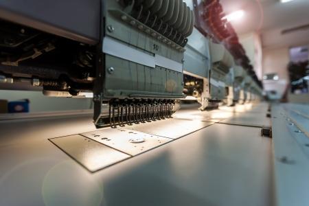 Photo pour The production line in industrial size textile factory  - image libre de droit