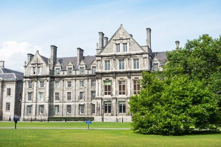 DUBLIN, IRELAND - AUGUST 1, 2019: Surrounded by central Dublin and located on College Green, Trinity College Dublin is recognised internationally as Ireland's premier university.