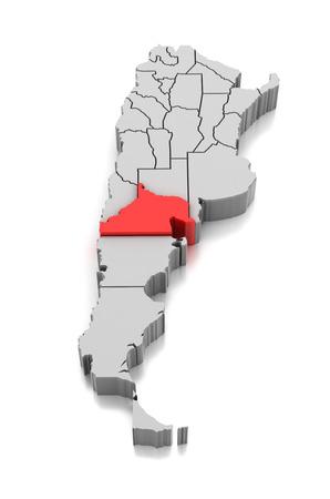 Map of Rio Negro Province, Argentina