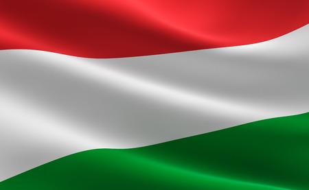 Flag of Hungary. illustration of the Hungarian flag waving.