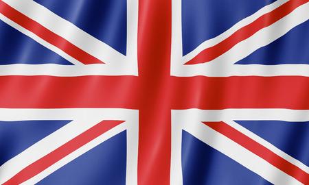 Foto de Flag of the United Kingdom. Illustration of the British UK flag waving. - Imagen libre de derechos