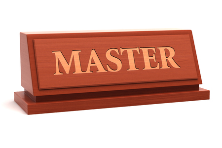 Master title on nameplate