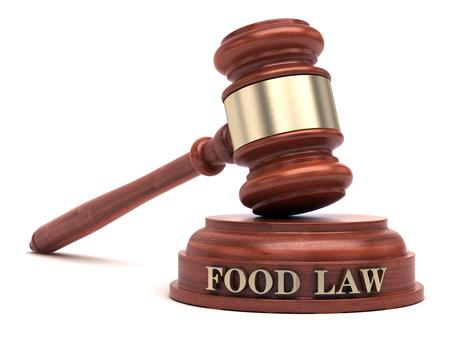 Photo pour Food law - image libre de droit