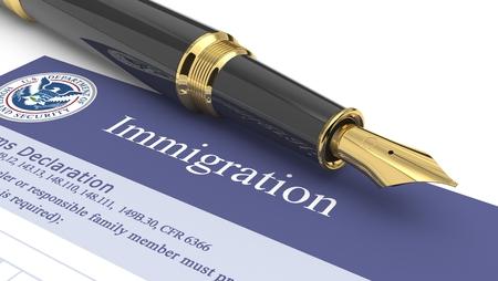 Photo pour Immigration document - image libre de droit