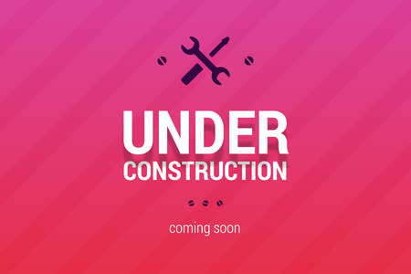 Illustration for Under construction with coming soon label. - Royalty Free Image