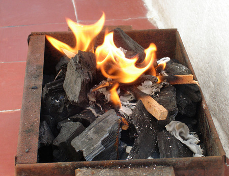in the past time this coal fire was useful to cook food and warm up, and now it is used to make barbecue in algeria.
