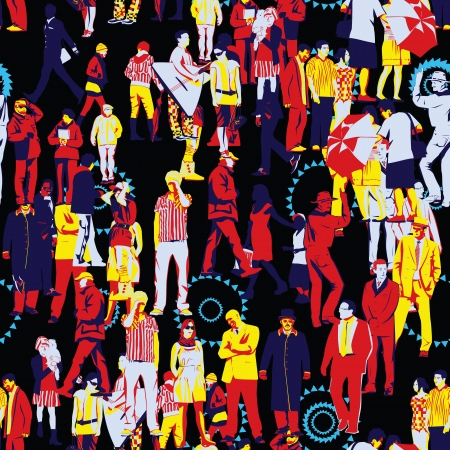 Crowd Seamless Pattern