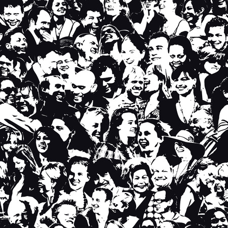 Illustration for Happy People  Background - Royalty Free Image