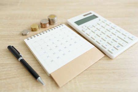 Photo pour Home  calculators, and pens. Investing in investment in real estate Home loan using as background business concept and real estate concept with copy space for your text - image libre de droit