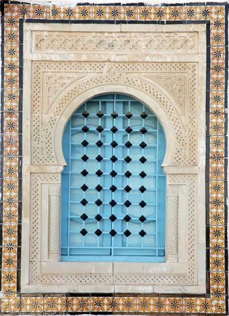 Traditional window from Kairouan, Tunisia