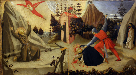 Fra Angelico: The stigmatization of St. Francis of Assisi and death of St. Peter Martyr, Old Masters Collection, Croatian Academy of Sciences in Zagreb, Croatia
