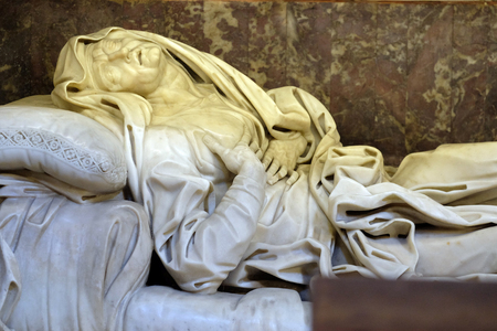 The Ecstasy of Saint Anne is a sculpture created by Giovanni Battista Maini and displayed at Basilica di Sant Andrea delle Fratte, Rome, Italy