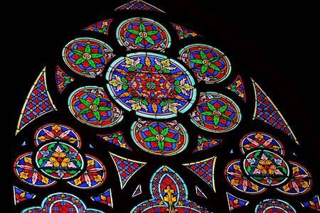 Foto de Stained glass windows in the Saint Eugene - Saint Cecilia Church, Paris, France - Imagen libre de derechos