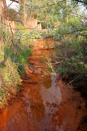 waste water flowing from the plant spoil the ecology of the Earth