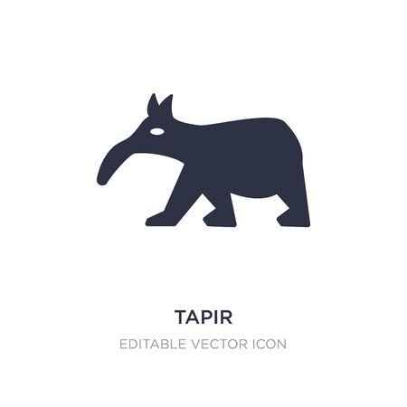 Illustration pour tapir icon on white background. Simple element illustration from Animals concept. tapir icon symbol design. - image libre de droit