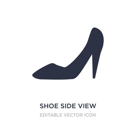 Illustration for shoe side view icon on white background. Simple element illustration from Fashion concept. shoe side view icon symbol design. - Royalty Free Image