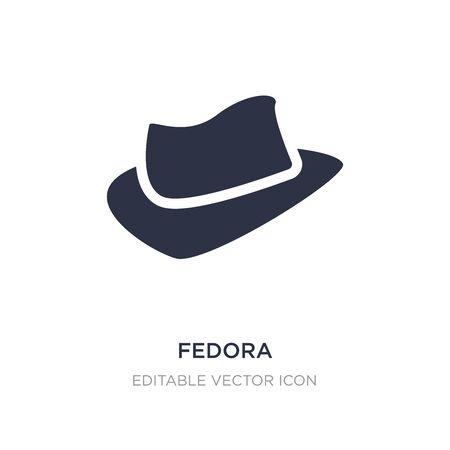 Illustration for fedora icon on white background. Simple element illustration from Fashion concept. fedora icon symbol design. - Royalty Free Image