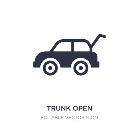 Illustration for trunk open icon on white background. Simple element illustration from Gaming concept. trunk open icon symbol design. - Royalty Free Image