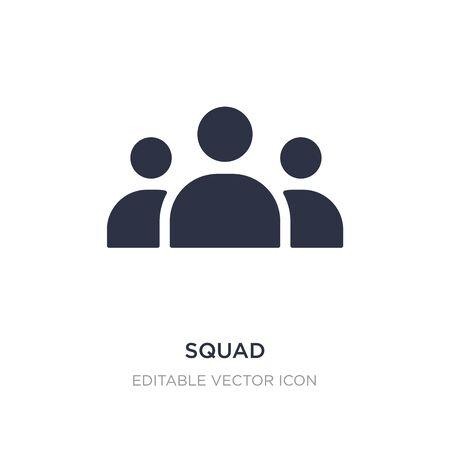 Illustration pour squad icon on white background. Simple element illustration from Tools and utensils concept. squad icon symbol design. - image libre de droit