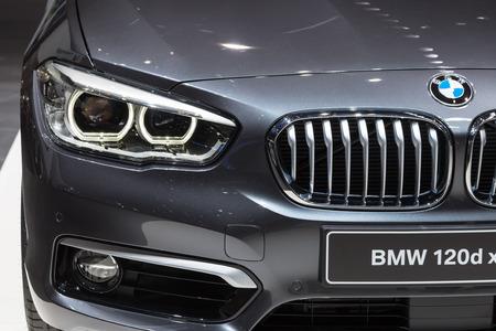 Geneva, Switzerland - March 4, 2015: 2015 BMW 1-Series presented on the 85th International Geneva Motor Show
