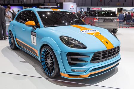 Geneva, Switzerland - March 4, 2015: 2015 Hamann Porsche Macan S Diesel presented on the 85th International Geneva Motor Show