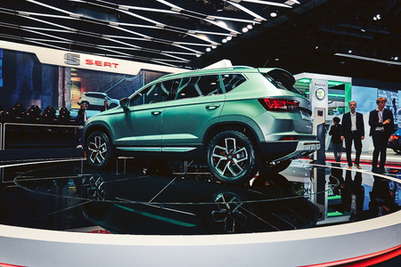 Paris, France - September 29, 2016: 2016 Seat Ateca Xperience Concept presented on the Paris Motor Show in the Porte de Versailles