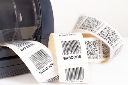 Photo pour barcode label printer - image libre de droit