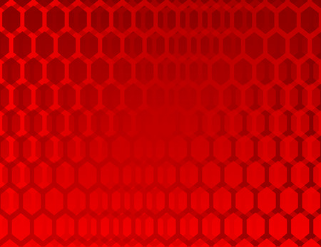 Abstract red background with hexagons