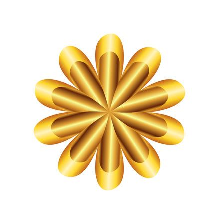 Flower Golden Ratio Circular symbol