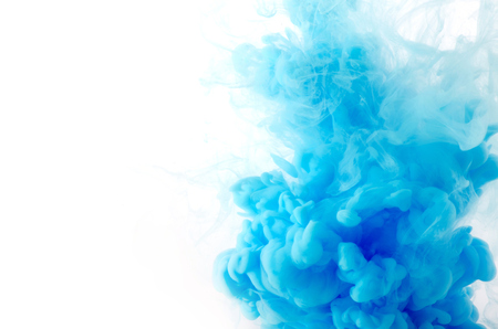 Cloud of ink in water isolated on white