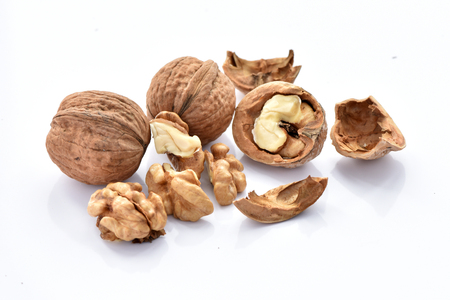 Photo for Walnuts on a white background. - Royalty Free Image