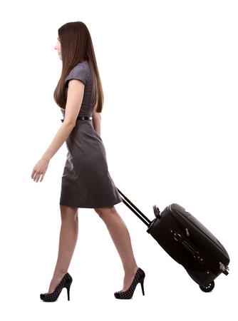Photo pour young caucasian woman wearing business dress on white background - image libre de droit