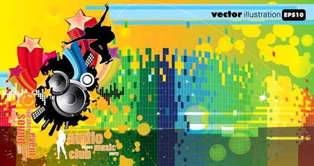 Abstract event music background