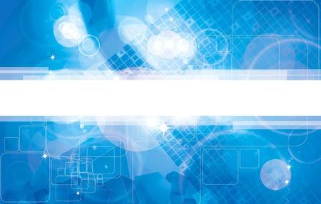 Illustration pour Abstract dark blue technical background - image libre de droit