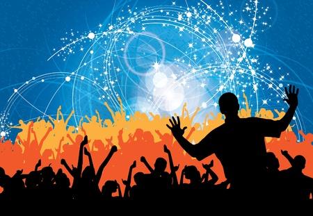 Illustration pour People dancing background party  - image libre de droit