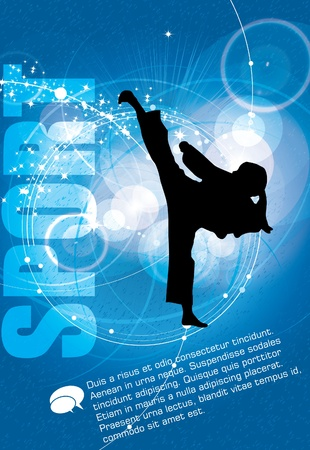 Foto de Sports. Karate illustartion - Imagen libre de derechos