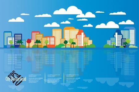 Illustration pour City Landscape - image libre de droit