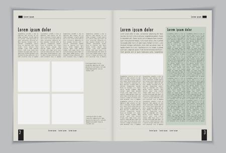 Layout magazine  Editable vector