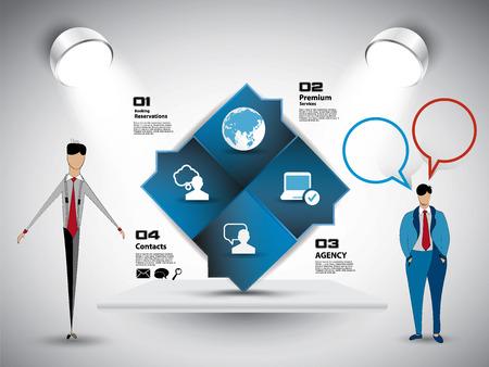 Illustration pour Businessman working character design, vector illustration - image libre de droit