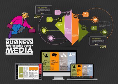 Illustration pour Modern infographic design with diagram and IT technology - image libre de droit