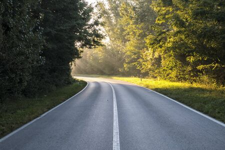 The road, which at the bend is illuminated by sunlight. It represented inspiration, God's apparitions, enlightenment