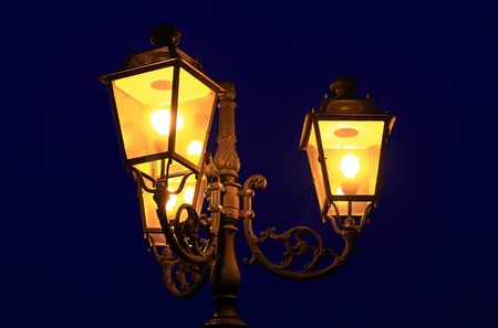 Three old lanterns @ dusk