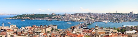 Istanbul Panoramic View from Galata tower to Golden Horn, Turkey