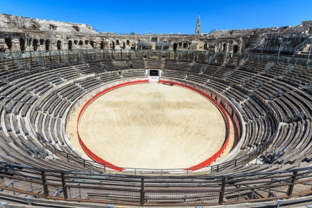 Bull Fighting Arena in Nimes, Roman Amphitheater, France