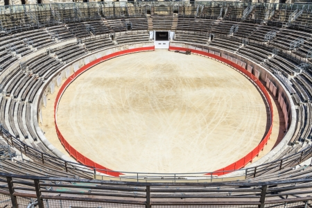 Bull Fighting Arena in Nimes, Roman Amphitheater, France