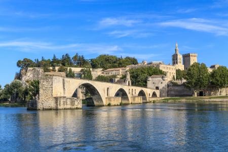 Avignon Bridge and Popes Palace, Pont Saint-Bnezet, Provence, France
