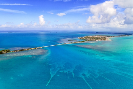 Florida Keys Aerial View from airplane