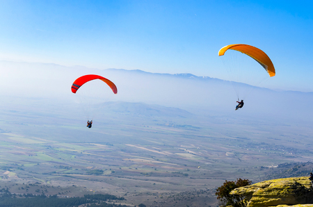 Photo for Duo paragliding flight - Royalty Free Image