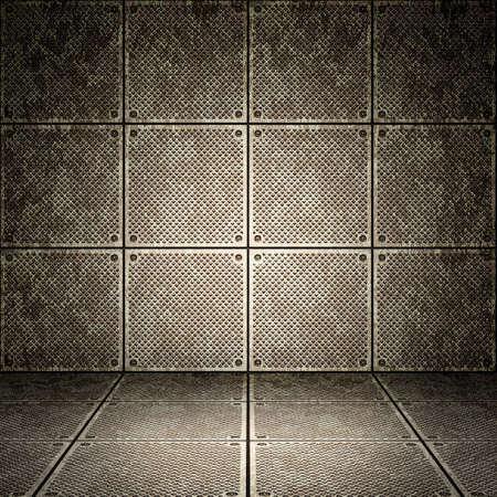Photo pour Old metallic interior, texture of metal. - image libre de droit